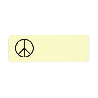 Peace Sign Label- Customize Background Color Label