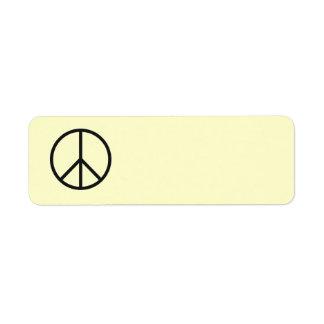 Peace Sign Label- Customize Background Color Return Address Label