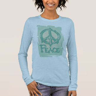 Peace Sign Ladies Long Sleeve Shirt