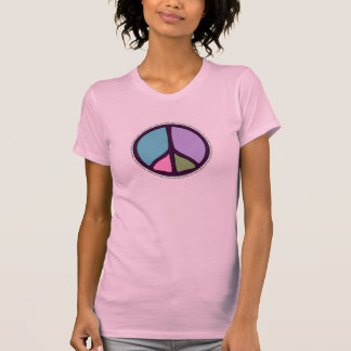 Peace Sign Ladies Twofer Sheer T-Shirt