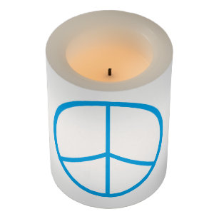 Peace Sign Led Flameless Candle