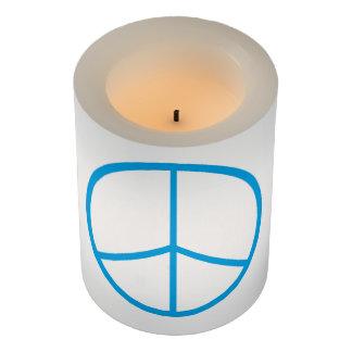 Peace Sign LED Flameless Candle