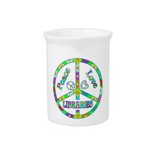 Peace Sign Libraries Pitcher