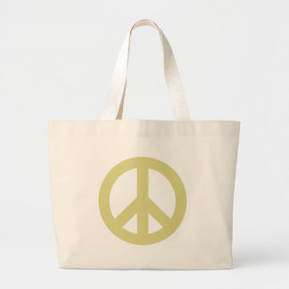 Peace Sign light Tote Bags