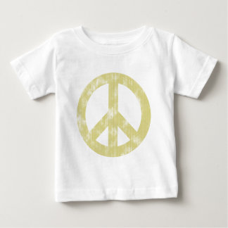 Peace sign light distressed baby T-Shirt
