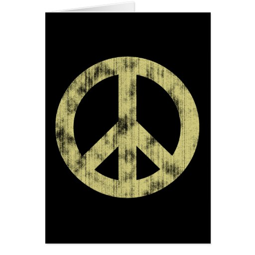 Peace sign light distressed card