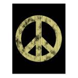 Peace sign light distressed postcard
