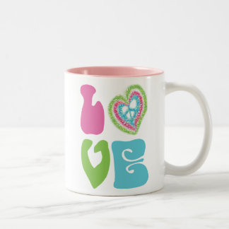 Peace Sign Love Mugs
