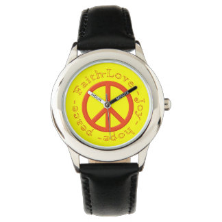 Peace Sign Love Wristwatches