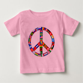 Peace Sign Made of Flags Products Baby T-Shirt