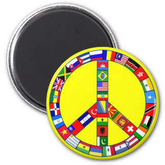 Peace Sign Made of Flags Products Magnet