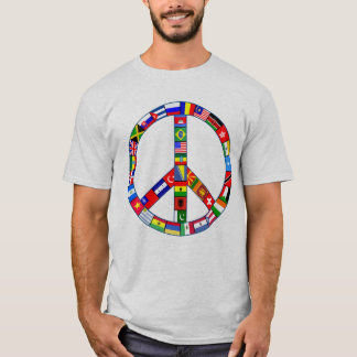 Peace Sign Made of Flags Products T-Shirt