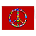 Peace Sign Made of Flags T-shirts, Mugs, Gifts Greeting Card