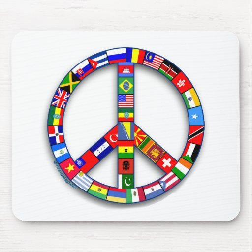 Peace Sign Made of Flags T-shirts, Mugs, Gifts Mouse Pad