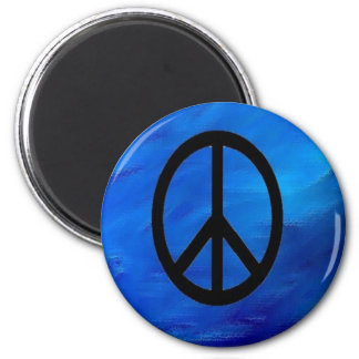 Peace Sign Magnet on Earth Blue Background