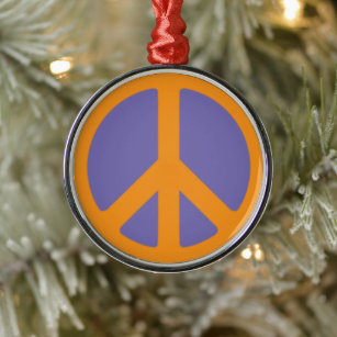 Peace Sign Holiday Christmas Decorations Zazzle