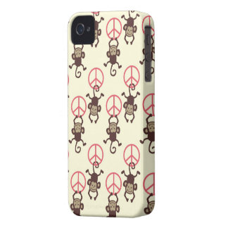 Peace Sign Monkeys iPhone 4 Covers