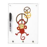 Peace Sign Monkeys Dry Erase Board