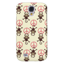 Peace Sign Monkeys Galaxy S4 Cover