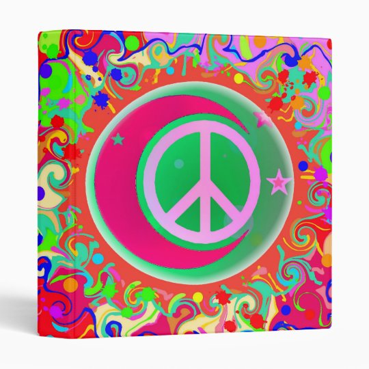 Peace Sign, Moon, Stars & Everything Binder