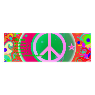 Peace Sign Moon Stars Everything Business Card Template
