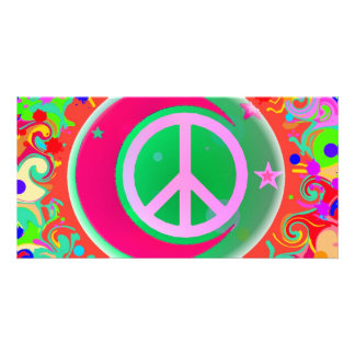 Peace Sign, Moon, Stars & Everything Card