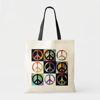 Peace Sign Mosaic Canvas Bags