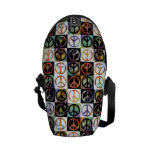 Peace Sign Mosaic Commuter Bags