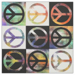 Peace Sign Mosaic Fabric