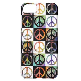 Peace Sign Mosaic iPhone 5C Case