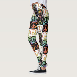 Peace Sign Mosaic Leggings