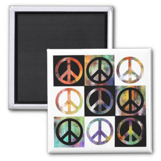 Peace Sign Mosaic Magnet