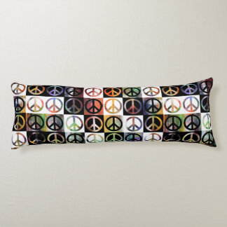 Peace Sign Mosaic Body Pillow