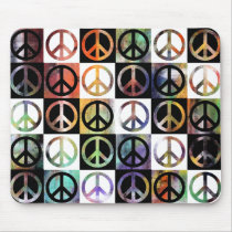 Peace Sign Mosaic Mouse Pad