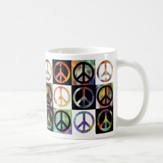 Peace Sign Mosaic Mugs