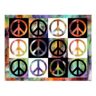 Peace Sign Mosaic Postcard