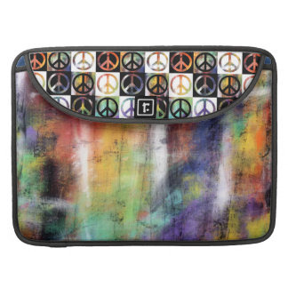 Peace Sign Mosaic Sleeve For MacBook Pro