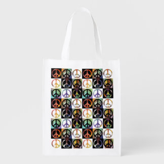 Peace Sign Mosaic Market Tote