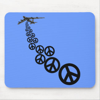 Peace sign mouse pad