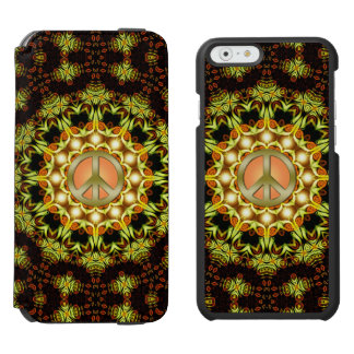 Peace Sign Nature Energy | Green + Orange iPhone iPhone 6/6s Wallet Case