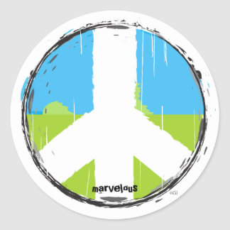 Peace Sign No2 Sticker