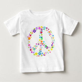 Peace sign of Flowers Baby T-Shirt