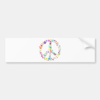Peace sign of Flowers Car Bumper Sticker