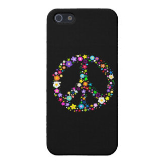 Peace sign of Flowers iPhone SE/5/5s Cover