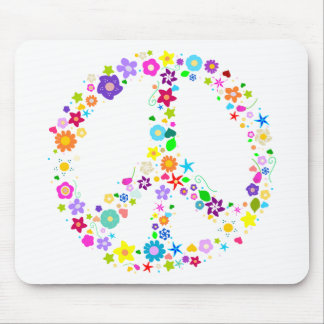Peace sign of Flowers Mousepad