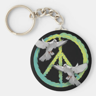 Peace sign Original Design by Bestpeople Keychain