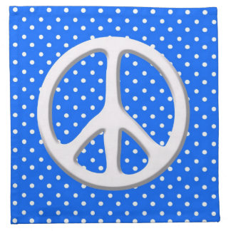 Peace Sign Party in Blue Printed Napkins