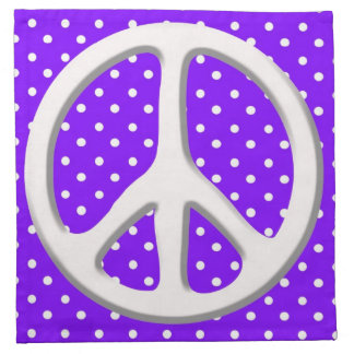 Peace Sign Party in Purple Napkin