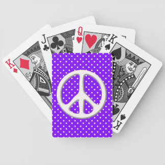 Peace Sign Party in Purple Poker Cards