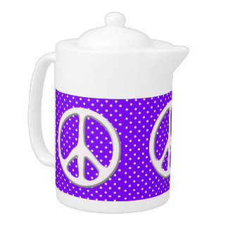 Peace Sign Party in Purple